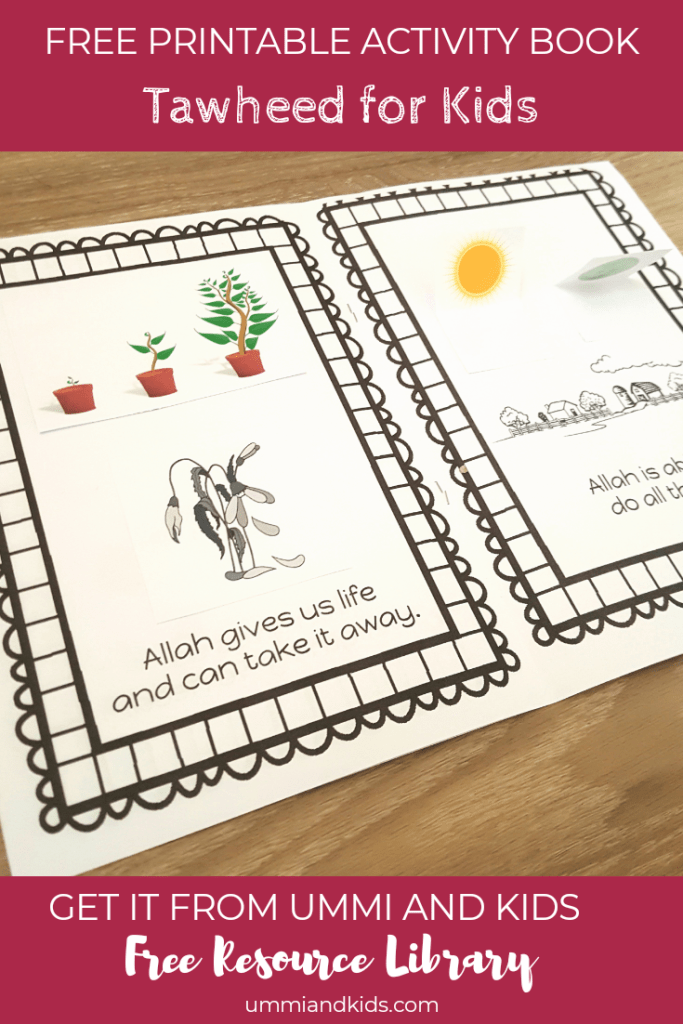 Free printable activity book to teach tawheed