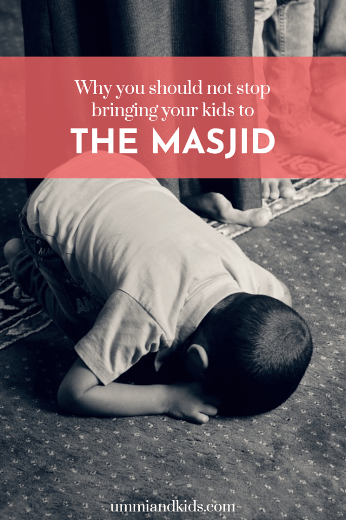 Child doing sujud at masjid