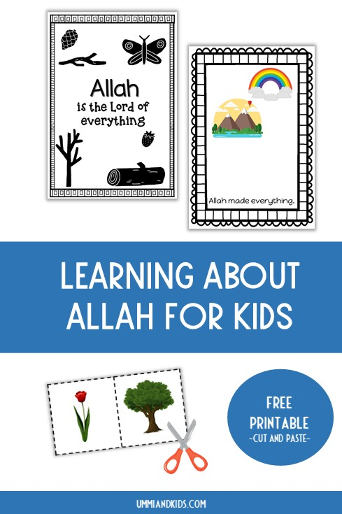 Learning about Allah for kids printable