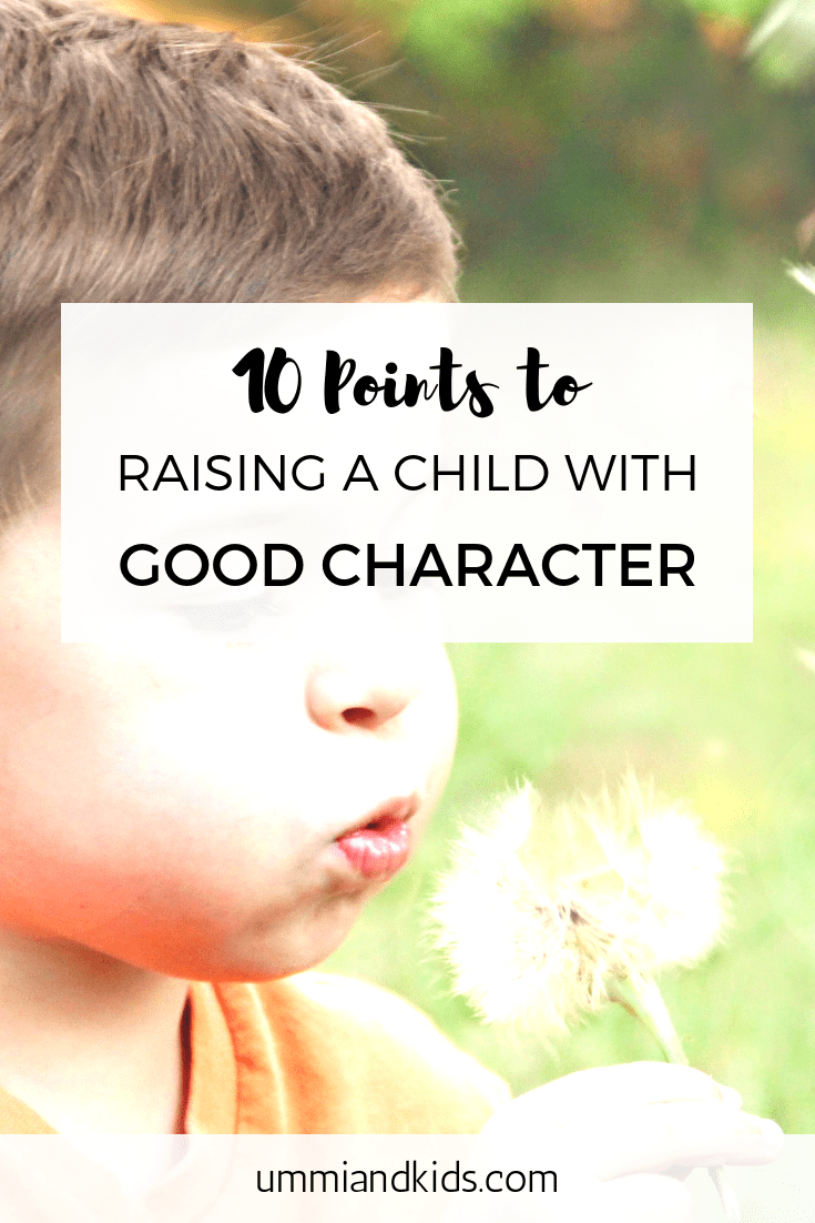 Raising a child with good character in Islam