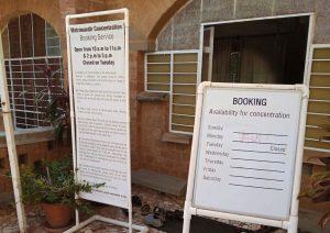 Registration for visiting Matrimandir
