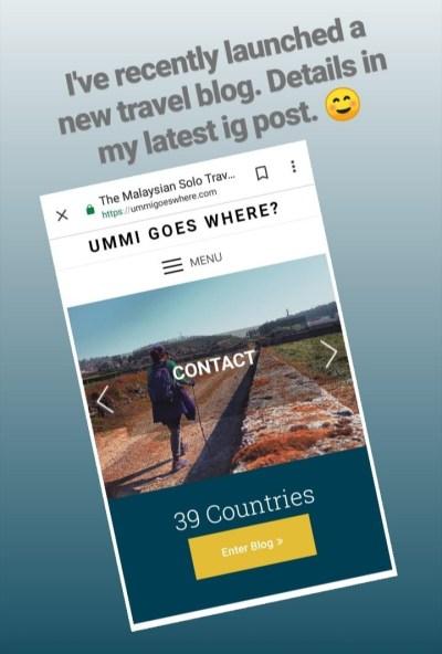 Ummi Goes Where blog.
