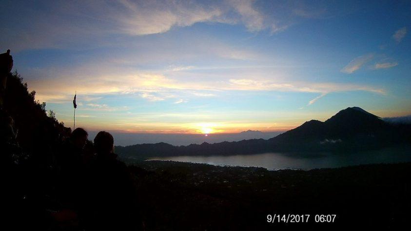 Sunrise over Mount Batur Bali