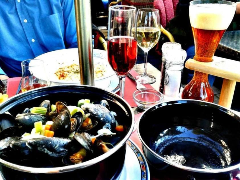 Belgian food in Bruges