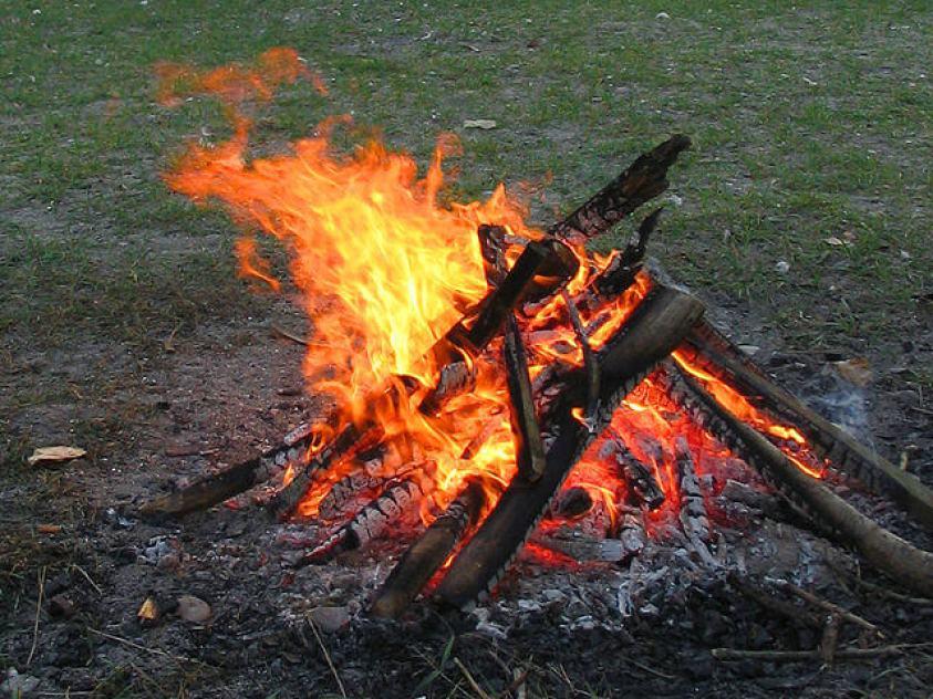 Starting a fire from scratch