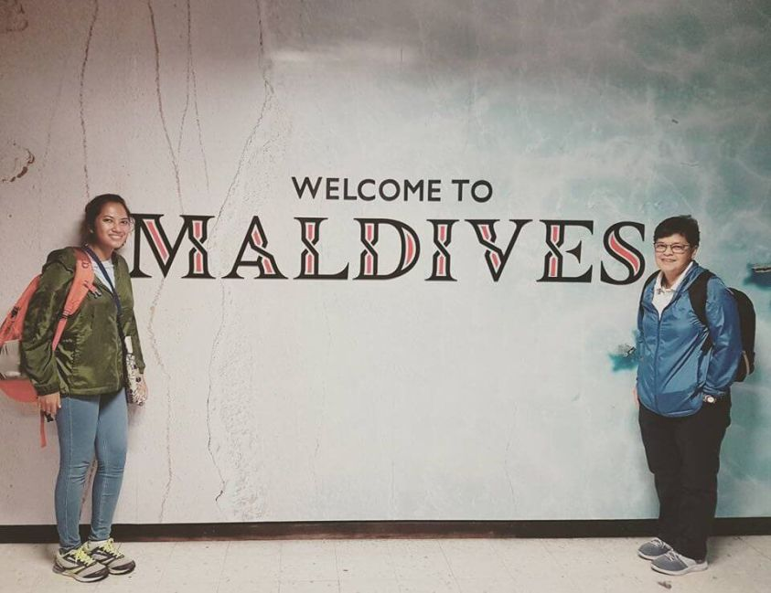 Welcome to Maldives airport sign