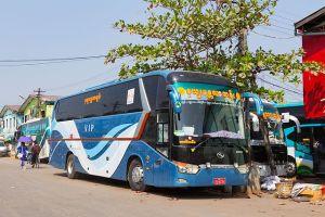 VIP bus in Myanmar