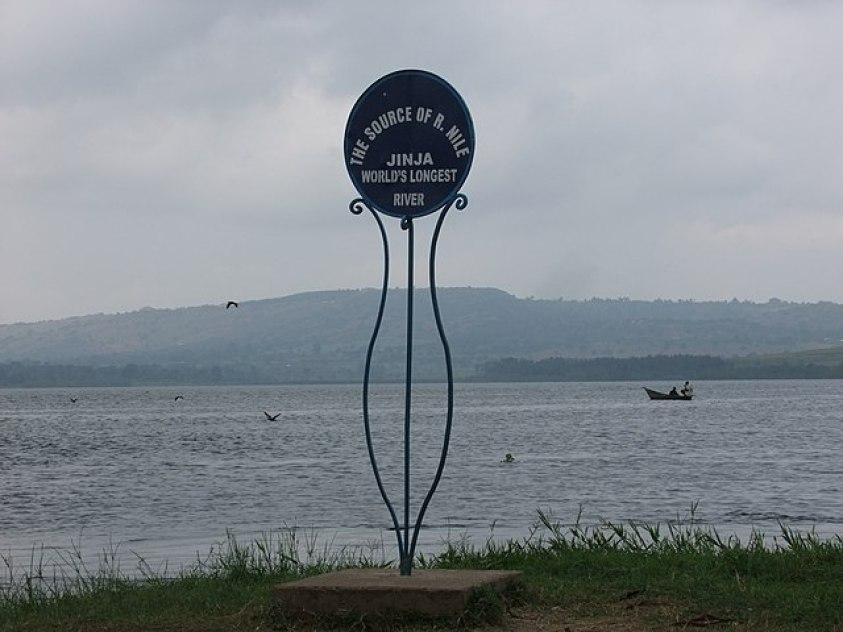 Jinja source of Nile signage