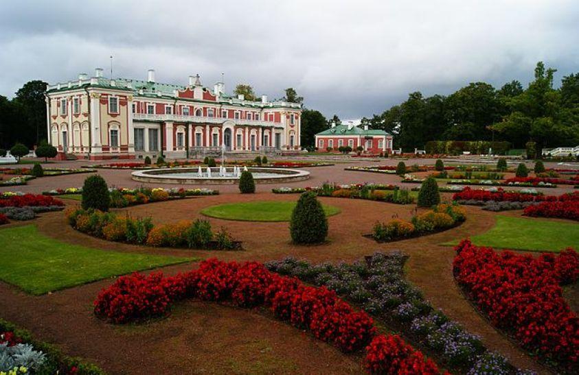 Palace and garden of Kadriorg Palace Estonia