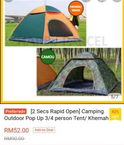 Shopee tent