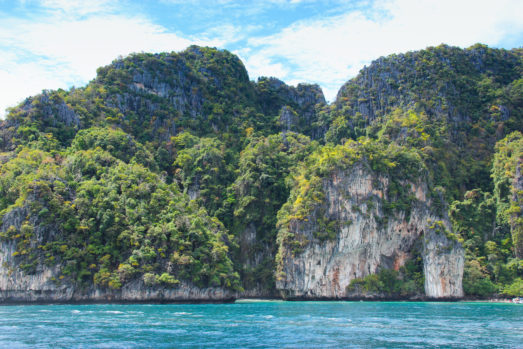Phuket cliffs on water as a top filming location in thailand