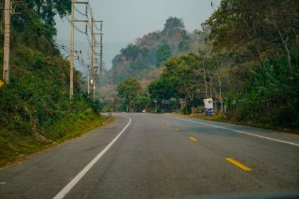 Pai road a location in Thailand for video production