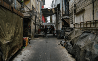 china town alley a location in Thailand for video production