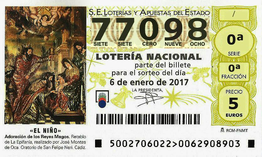 Loteria de Reyes Umore Ona 77098
