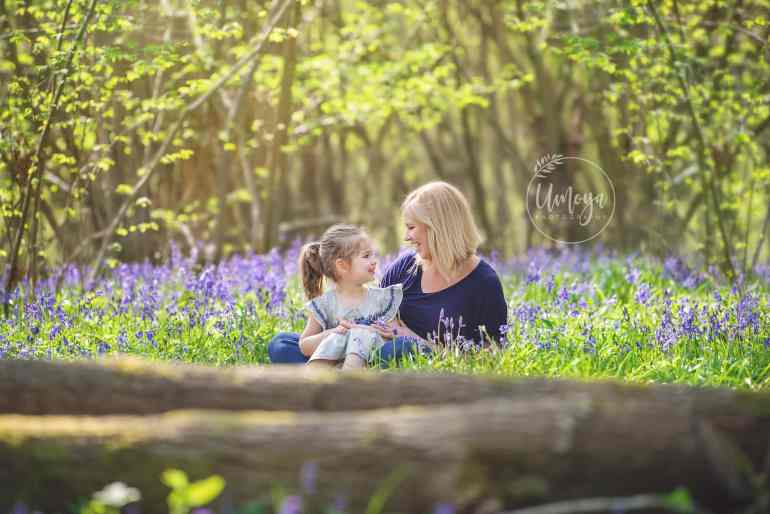 Bluebell family photoshoot, Sussex