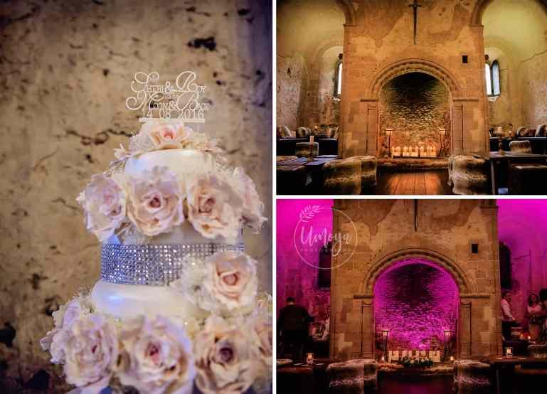 Cake & Lighting - inside a castle wedding