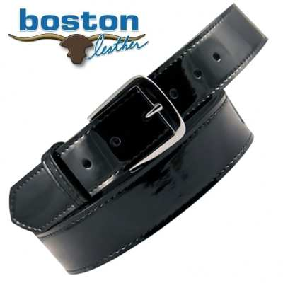 "Boston Leather 1 1/2"" Patent Belt"