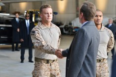 "DESIGNATED SURVIVOR - ""The Mission"" - Realizing his attempts at diplomacy with Algeria have failed, President Kirkman makes the difficult decision of sending Navy SEALs on a mission that will define his presidency. Meanwhile, as the investigation into the Capitol bombing continues, Agent Hannah Wells discovers more secrets than answers, on ABC's ""Designated Survivor,"" WEDNESDAY, OCTOBER 26 (10:00-11:00 p.m. EDT). (ABC/Sven Frenzel) ROBERT CORMIER, KIEFER SUTHERLAND, ALEX MALLARI JR."