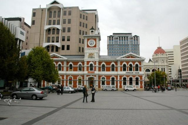 Prédio colonial em Christchurch