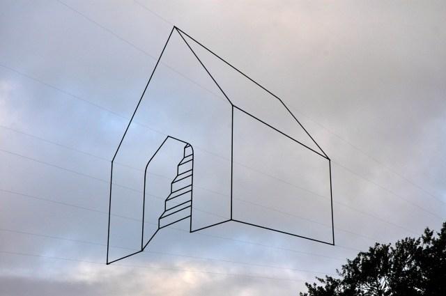 Escultura aérea em Christchurch