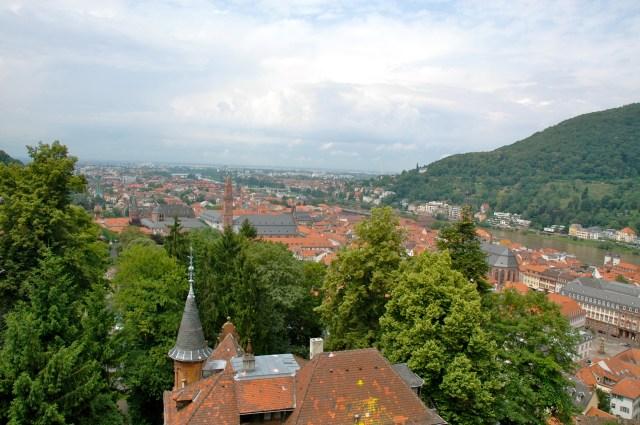 Vista da cidade de Heidelberg