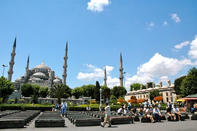 Os Minaretes da Mesquita Azul