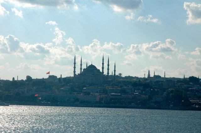 O entardecer em Istambul