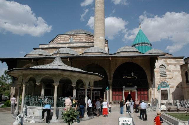 A entrada do Museu Mevlana em Konya