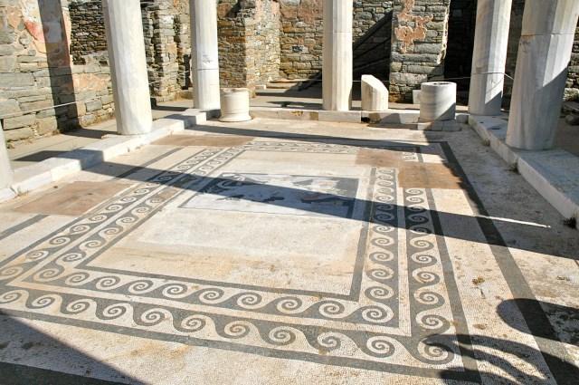 Mosaico preservado no Bairro do Teatro