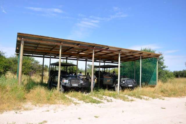 O campo de pouso do Acampamento Chitabe Lediba