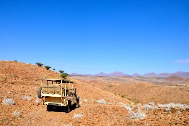 A caçada aos Elefantes do Deserto passava por áreas árduas e belas.