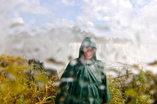 O volume de água que sobe das Cataratas é imenso.