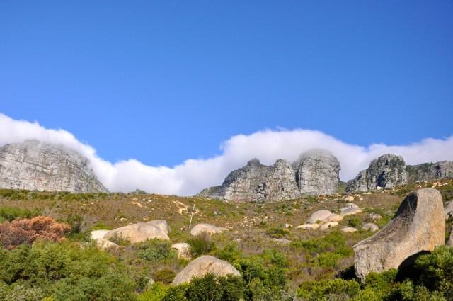 A Montanha da Mesa em Cape Town