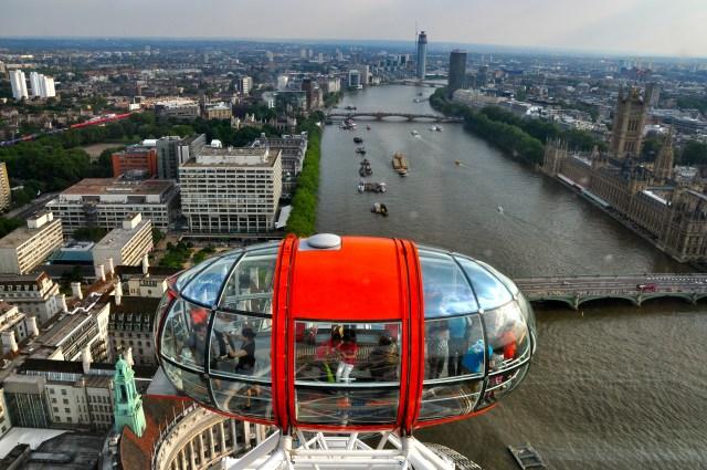 O Rio Tâmisa visto a partir da London Eye.