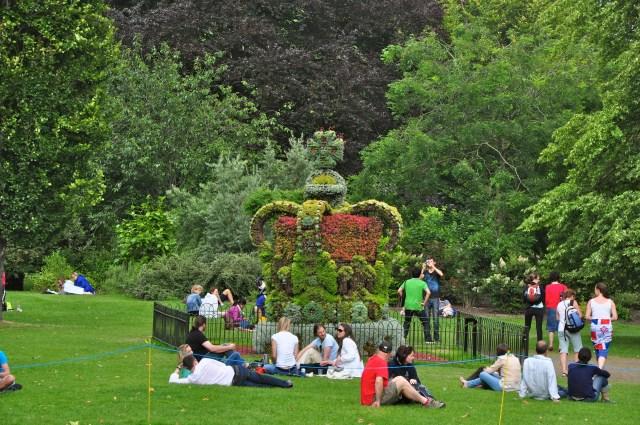 Coroa real no St James Park.