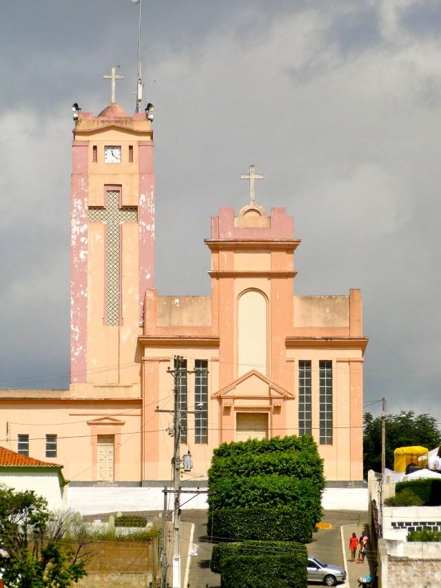 A Igreja Matriz de Jaguaquara.