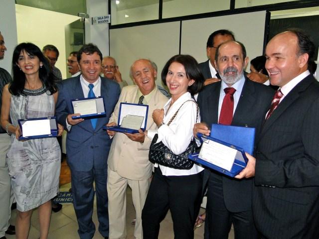 Alguns dos homenageados: Márcia Eirado, Sérgio Belleza, Sebastião Nery, Beatriz, Valcy Barreto e Joaquim Nery.