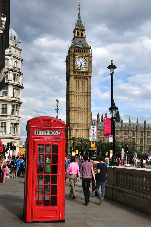 As cabines vermelhas de telefone. Outro símbolo de Londres.