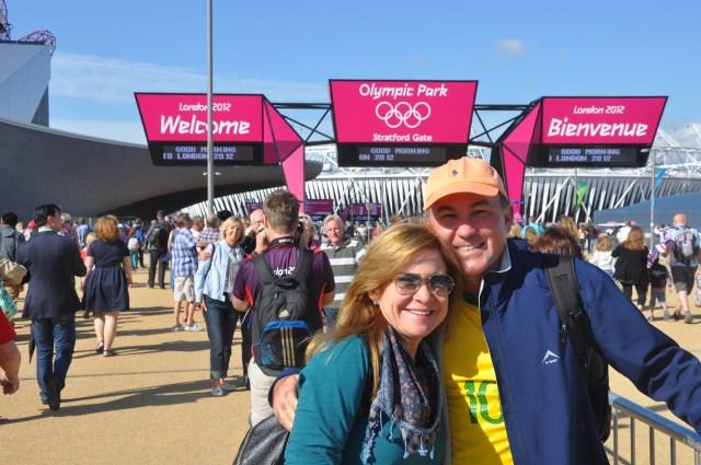 A entrada do Parque Olímpico.