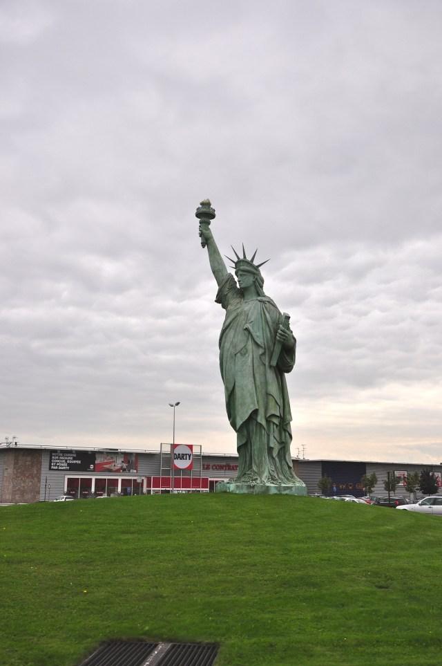 A réplica da Estátua da Liberdade de Colmar