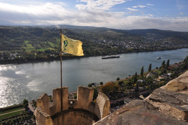 A bela vista do alto do Castelo Marksburg
