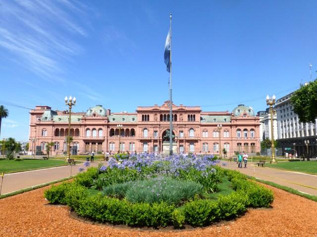 A Casa Rosada - A sede do governo argentino.