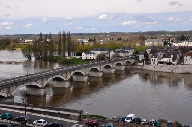 A visão do Rio Loire a partir do Castelo de Amboise