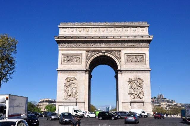 O Arco do Triunfo.