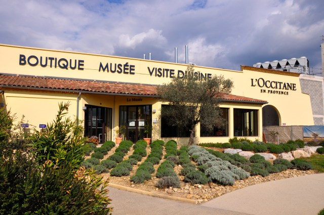 A fábrica e loja da L'Occitane em Manosque