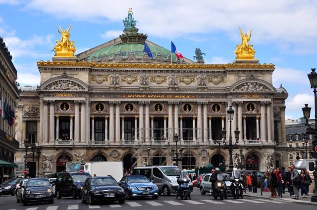A Ópera Garnier.