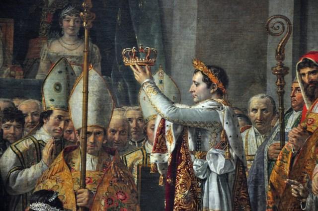 """Detalhe de """"A Coroação de Napoleão Bonaparte""""."""