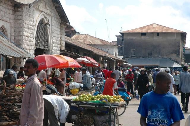 O mercado de Stone Town.