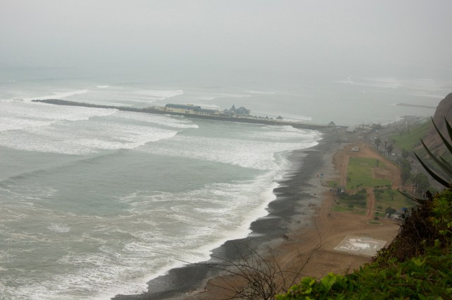 Essa é a vista que se tem do alto do balcão de Miraflores.