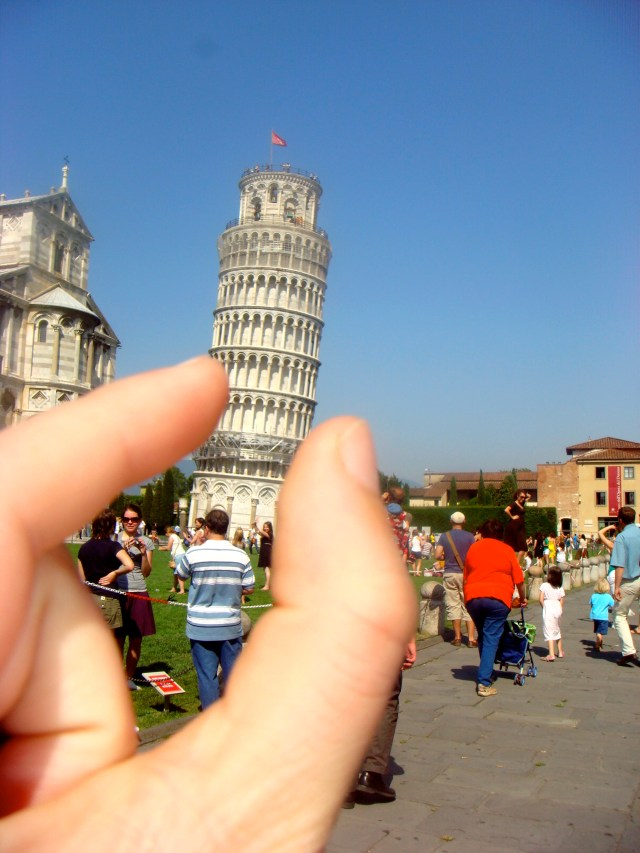 Chegando a Pisa.